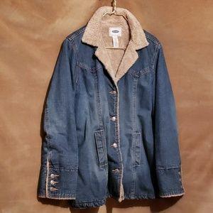Old Navy Sherpa-lined Jean Jacket Sz XL
